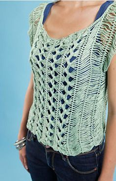 Ravelry: hairpin lace top pattern by Claire Montgomerie
