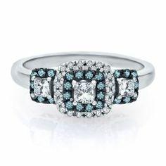 5/8 ct. tw. Three-Stone Diamond Ring in 10K Gold - Engagement Rings - Rings - Jewelry - Categories - Helzberg Diamonds
