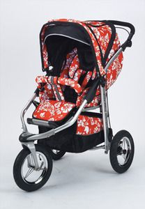 Baby Bling Mariposa Red ATS Safety Stroller with all the Product | My Urban Child -