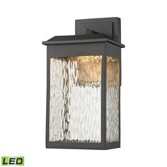 Newcastle LED Outdoor Wall Sconce In Matte Black 45200/LED