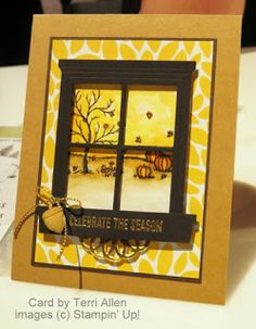 Stampin' Up! Happy Scenes stamp set + Hearth & Home Thinlits from NEW Holiday Catalog #stampinup