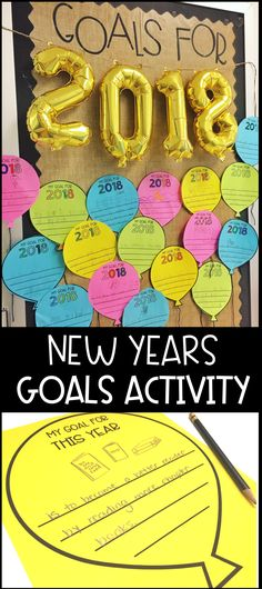 Super simple goal setting activity which makes for a really cute bulletin board!