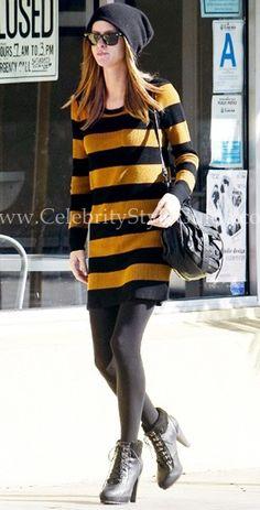 Nikki Hilton Madewell stripe dress