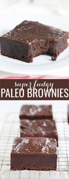 THESE ARE THE BROWNIES YOU SEARCH FOR Super fudgy Paleo brownies, made with plenty of chopped chocolate, almond flour and a touch of coconut flour. They'll be your new favorite—whether you're Paleo or not! Paleo Dessert, Low Carb Desserts, Gluten Free Desserts, Healthy Desserts, Dessert Recipes, Diabetic Snacks, Snacks Recipes, Free Recipes, Paleo Brownies