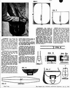 Bag Pattern Free, Skirt Patterns Sewing, 1940s Fashion, Pattern Fashion, Bag Making, Fashion Bags, Shoulder Bag, Stylish, Fabric