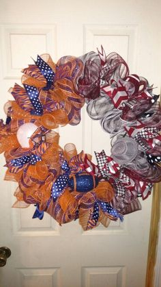 Auburn/Alabama deco mesh wreath