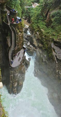 Canyon Steps ~ Pailon del Diablo, Ecuador