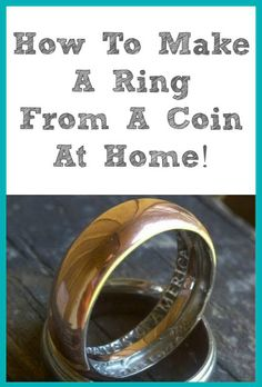 Learning how to make a ring from a coin is simple enough, and I didn't even know it was possible until seeing this! You will definitely need to have…