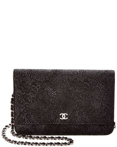 Spotted this Chanel Black Sparkly Lace Effect Goatskin CC Wallet On Chain on Rue La La. Shop (quickly!).