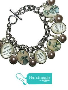 JANE AUSTEN Charm Bracelet QUOTES Literary Writer Silver Plated Glass Covered REGENCY Ladies from Art Jewelry For You https://www.amazon.com/dp/B016AYQT0O/ref=hnd_sw_r_pi_dp_To.vyb30JYP3K #handmadeatamazon