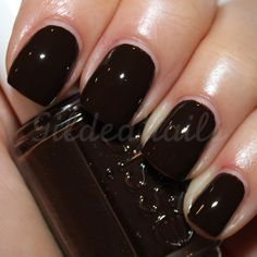 "Essie ""little brown dress"" (Dark/Chocolate Brown/Espresso Brown nail polish)"