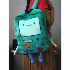 Don't you just wish you bring this BMO Plush Backpack everywhere you go? Well, now you can! Grab this Cute Just Released LIMITED EDITION BMO Plush Backpack today! - This is perfect for a Visual Kei, Adventure Time, Finn The Human, Creepy, Jake The Dogs, Cartoon Shows, Marceline, Grunge, Green Bag
