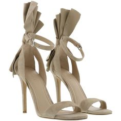 Kendall  Kylie Eve Sandals ($155) ❤ liked on Polyvore featuring shoes, sandals, suede, kendall kylie shoes, suede leather shoes, suede shoes and suede sandals