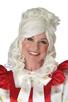California Costumes Mrs. Claus Wig and Bun Clip California Costumes California Costumes, Mrs Claus, White Hair, Classic White, Wigs, Gender, Cozy, Group, Halloween