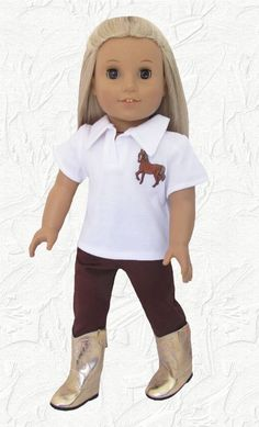 [ ! ] American Girl Horse Riding Outfit Polo