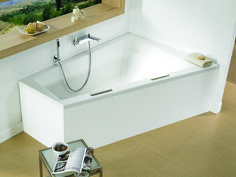 Space saving corner bath tub - Doppio