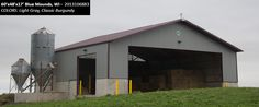 60'x48'x17' Cleary Dairy & Livestock Building in Blue Mounds, WI | Colors: Light Gray, Classic Burgundy,