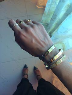 Bracelets + Rings.