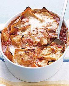 Baked Ravioli  http://www.marthastewart.com/recipe/perfect-baked-ravioli