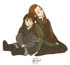 Omg its been forever since i posted art. Here's the Kiliel i promised forever ago! Kili And Tauriel, Hobbit 3, Fantasy Couples, Jrr Tolkien, Film Serie, The Elf, Middle Earth, Lord Of The Rings, Lotr