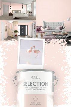 Wenn es mal ein bisschen weiblicher sein soll. Eine Wand in Rosa kann da helfen. #color #rosa Florida Keys, The Selection, Modern, Design, Colors, Home Decor, Houses, Florida, Bedroom