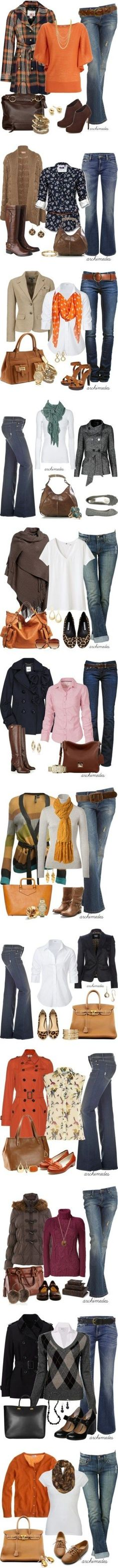 Some great outfit ideas for Autumn fashion - suitable for the over 40s