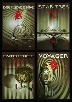 Star Trek - I would love a gallery wall with these (and hopefully a TNG one?)