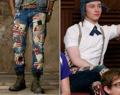 alph Lauren Slim-Fit Flag Restoration Jean - Worn with: Diesel hat, Marc by Marc Jacobs bag