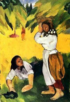 1909 Natalia Goncharova (Russian artist, 1881-1962) Harvest