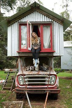 Home-made designer 'truck houses'