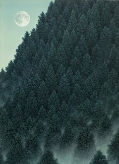 morning moon, Yojiro Nagai, Japanese artist.