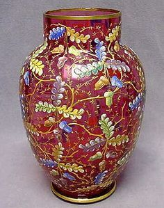 Vintage red Moser glass