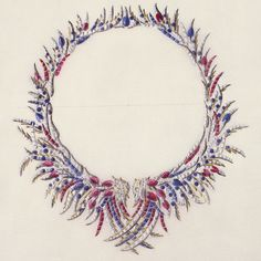 Jean Schlumberger's sketch for his Plumes necklace.