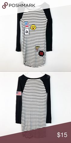 cc2231a960a Long sleeve dress with cute patches Gentle wear. Dresses Long Sleeve