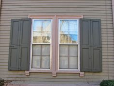Almost 99 percent of window shutters on homes are wrong resulting in very bad curb appeal. See if your shutters are bad and learn what to do right to make your home look its best. Cottage Shutters, Window Shutters Exterior, Cedar Shutters, House Shutters, Interior Shutters, Cedar Siding, California Shutters, Types Of Shutters, Square Windows