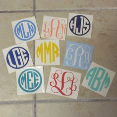 Basic Monogram Decal