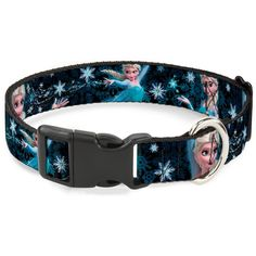 Buckle-Down Elsa Poses Perfect and Powerful Blues/White Plastic Clip Collar, Medium/11-17' * Click on the image for additional details. #CatCollarsHarnessesandLeads