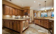 Stunning kitchen with marble flooring
