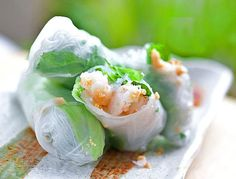 Top 31 Thai Finger and Party Foods to Impress the Crowd: Thai Fresh Rolls with Shrimp