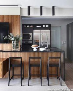 Super ideas for modern kitchen storage woods Industrial Style Kitchen, Modern Kitchen Design, Interior Design Kitchen, Kitchen Contemporary, Home Decor Kitchen, Home Kitchens, Kitchen Dining, Küchen Design, House Design