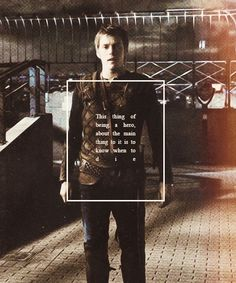 Luke Castellan to Percy Jackson in Sea of Monsters.  Oh the irony.