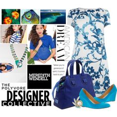 Color Theory with Meredith Wendell by livyloo on Polyvore featuring moda, Moschino Cheap & Chic, J.Crew, Meredith Wendell and DANNIJO