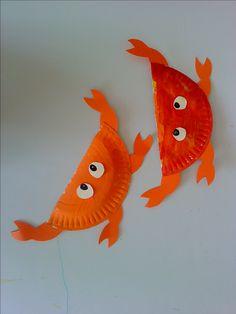 Καλοκαίρι – Astropeleki – Just another star in the webSky Craft Activities For Kids, Preschool Crafts, Diy Crafts For Kids, Arts And Crafts, Sea Crafts, Fish Crafts, Summer Camps For Kids, Daycare Crafts, Paper Plate Crafts
