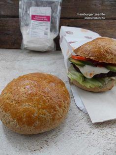 Gluténmentes hamburgerzsemle készítése - streetfood otthon Hamburger, Food Porn, Food And Drink, Pizza, Gluten Free, Bread, Paleo, Hamburgers, Glutenfree