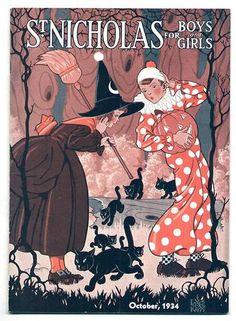 Vintage Halloween Magazine ~ St. Nicholas Magazine © October, 1934