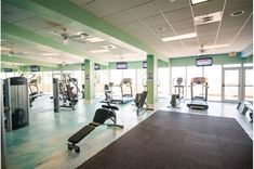 Stay fit while you're on vacation in the Gulf-front fitness room at Boardwalk Beach Resort.