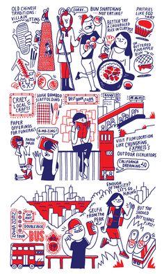 CITIx60 City Guide — Hong Kong (illustrations) on Behance