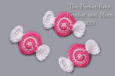The Perfect Knot Crochet and More: Candy Applique Pattern Crochet Amigurumi, Crochet Food, Crochet Gifts, Cute Crochet, Crochet Baby, Crochet Stars, Amigurumi Toys, Crochet Motifs, Crochet Patterns