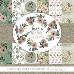 free floral papers and toppers
