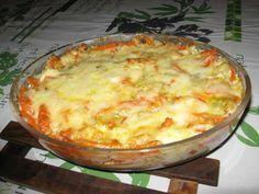 Gratin de poisson aux légumes (poireaux / carottes) et au curry